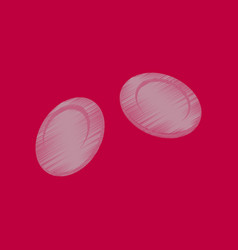 Flat shading style icon blood cells vector