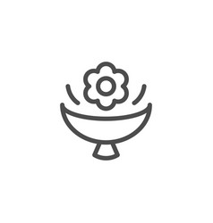 Flower bouquet line icon vector