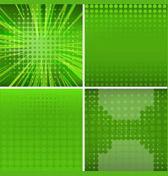 Four background design in green color vector