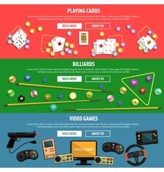 Games Banners Set vector image vector image