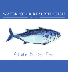 Hand painted watercolor edible fish design vector