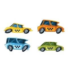Ilustration of color taxi cars vector