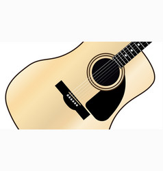 maple acoustic guitar vector image vector image
