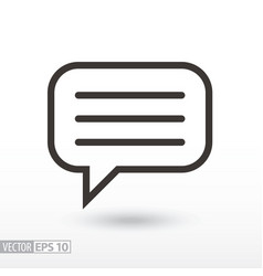 Message flat icon sign message vector