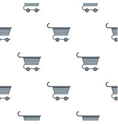 Metal trolley pattern flat vector