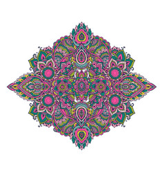 pattern of henna floral elements vector image vector image