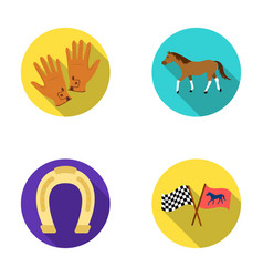 race track horse animal hippodrome and horse vector image vector image