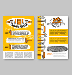 repair and paint tool poster construction design vector image vector image