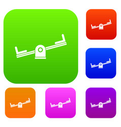 seesaw set collection vector image vector image