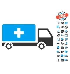 Service car icon with free bonus vector