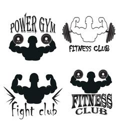 Set of vintage gym emblems vector