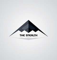 Stealth ship logo template vector