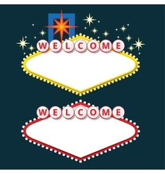 Welcome sign design elements vector
