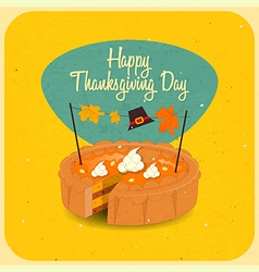 Happy thanksgiving pie vector
