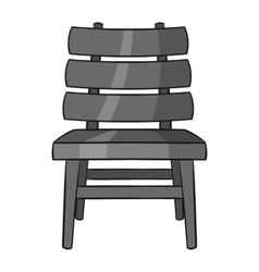Chair icon black monochrome style vector