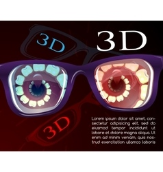 Presentation of 3d cinema vector