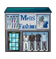 Mens fashion short vector image