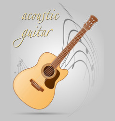 Acoustic guitar musical instruments stock vector