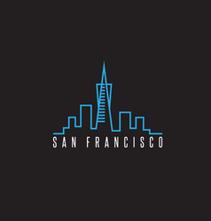 San francisco skyline design template vector