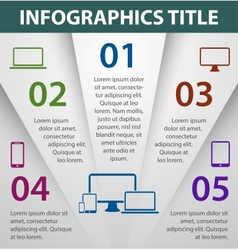 Graph design infographics template vector image