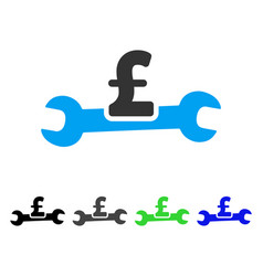 Service pound cost flat icon vector