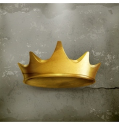 Golden crown old style vector
