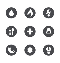 Social services icons set vector