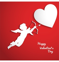 Valentines day background with cupid vector
