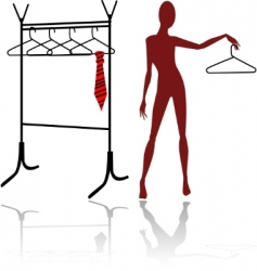 Mannequin silhouette vector