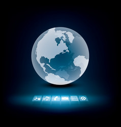 global communication technology vector image
