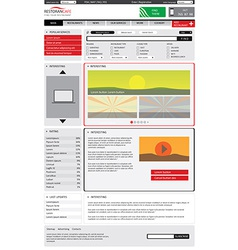 Editable website catalog template vector