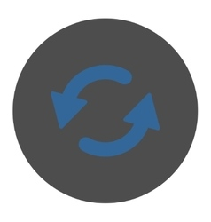 Refresh ccw flat cobalt and gray colors round vector