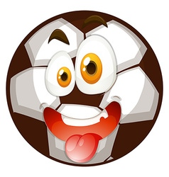 Football with happy face vector