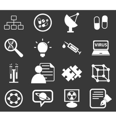 Science icon set 5 monochrome vector