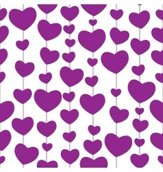 Heart Love Seamless Pattern Background vector image
