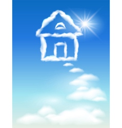Cloud house vector