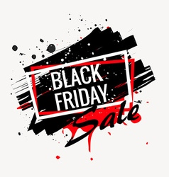 abstract black friday sale poster vector image