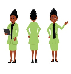 African businesswoman vector image vector image