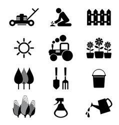 Agricultural Equipment Icons vector image vector image