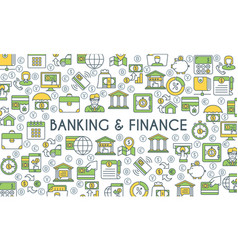 banking and finance banner vector image vector image