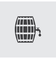 Beer barrel icon vector image