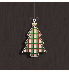 christmas tree decoration vector image