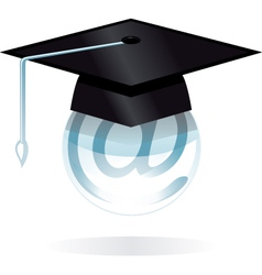 digital degree vector image vector image