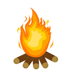 festa junina fire icon flat cartoon style vector image