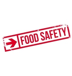 Food safety stamp vector image vector image