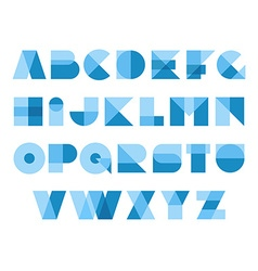 Geometric shapes font alphabet overlay transparent vector