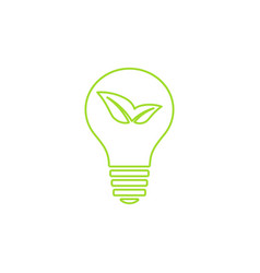 green light bulb icon vector image