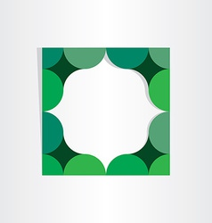 green textbox geometry frame vector image