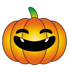Halloween pumpkin orange cartoon logo isolated vector