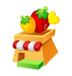 icon strawberry vector image